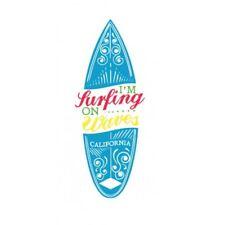 Autocollant surf2 bleu california stickers