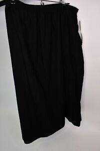 Alfred Dunner Women's Black 100% Wool Lined Dress Skirt W/Split Size 22W W/Tags