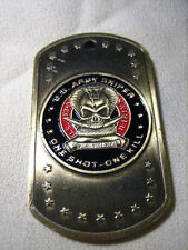 US ARMY SNIPER DOG TAG Challenge Coin w/ chain