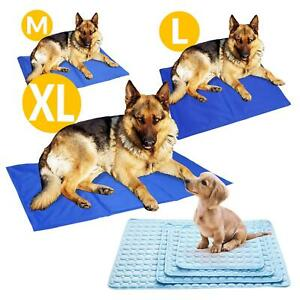 Pet Dog Cat Cooling Gel Mat Bed Summer Heat Relief Non Toxic Cushion Pad 5 Sizes