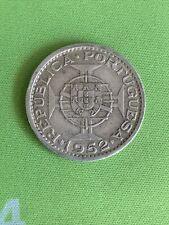 PORTUGUESE GUINEA BISSAU - 1952 20 $20 Escudos Silver coin