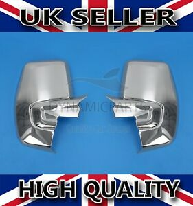 FOR FORD TRANSIT CUSTOM CHROME WING MIRROR COVERS ABS 2012 ONWARDS