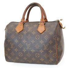 Authentic LOUIS VUITTON Speedy 25 Monogram Boston Handbag Purse #39919