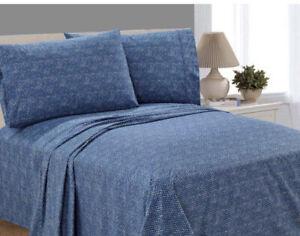 Mainstays 200 Thread Count Percale Pillowcases, 2 Piece Blue Herringbone King