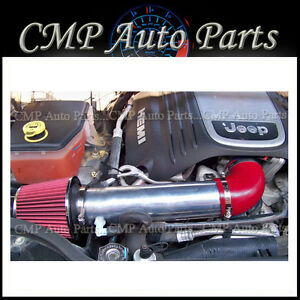 RED 2005-2010 JEEP GRAND CHEROKEE COMMANDER 5.7L 6.1L V8 AIR INTAKE KIT SYSTEMS