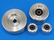 "Complete Belt Knife Grinder Wheel Set,5"" Drive 5/8, 4"" Tracking, 2"" Idler Wheels"