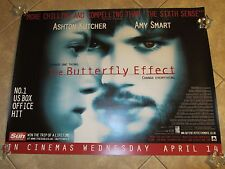 BUTTERFLY EFFECT movie poster ASHTON KUTCHER, AMY SMART -  uk quad poster