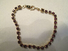 """VINTAGE Avon Tennis Bracelet SIMULATED Amethyst Small 6 1/2"""" **NEW IN BOX** 1994"""
