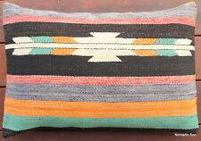 (40*60cm, 16*24inch) Boho handwoven kilim cushion cover tribal stripes