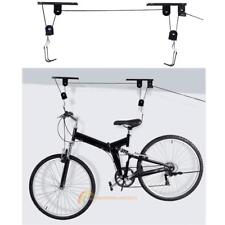 Bike Bicycle Cycling Lift Ceiling Mount Hoist Storage Garage Hanger Pulley Rack