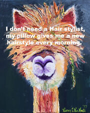 """Lama 8""""x10"""" Hairstylist Hair Style Signed Print Oil Painting Signed Art by Artis"""