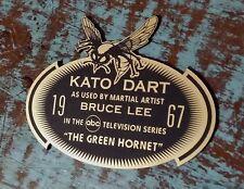 CUSTOM 1967 KATO DART DISPLAY PLACARD GREEN HORNET TV SERIES BRUCE LEE PROP