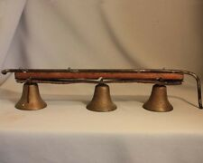 "Antique Vintage COUNTRY STORE BRASS DOOR BELLS Bell Shape 3 5/8"" diameter"