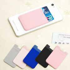 2 X Adhesive Sticker Back Cover Card Holder Pouch For iPhone Samsung Cell Phone