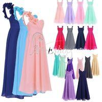 Wedding Princess Girls Flower Lace Bridesmaid Party Prom Christening Dress 4-14