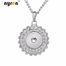 Round Charms 18mm Snap Pendant Necklace Fit 18mm Snap Button Snap Jewelry 8025