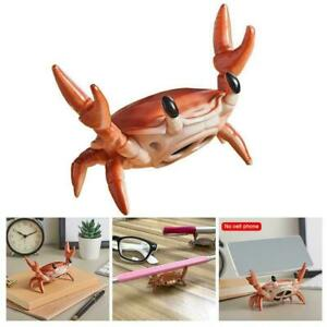 Bluetooth Speaker Cute Weightlifting Crab Stationery Glasses Holder Bracket F2M9