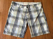 Hollister Stretch Mid-Rise Casual Shorts Multi-Color Plaid Juniors size 5