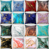 AB_ Coloured Drawing Marble Decor Home Office Car Cushion Cover Pillow Cases Nov