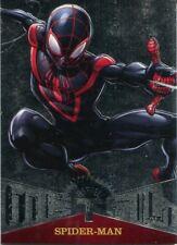 Spiderman Fleer Ultra 2017 Marvel Metal Chase Card MM50 Spider-Man