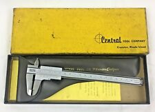 Vintage Central Tools Vernier Caliper in box complete Pre-Owned