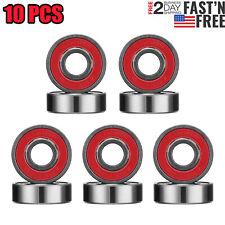 10 Pack ABEC 9 SWISS Skate Bearings, Skateboard Longboard Scooter Roller USA