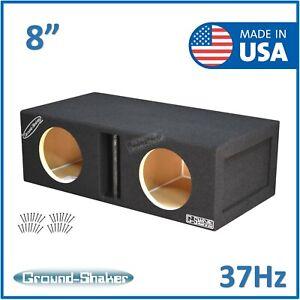 """8"""" Dual Center Vented Ported Sub Box Subwoofer Enclosure Speaker Box Car Audio"""