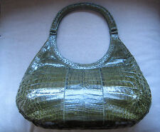NANCY GONZALES  GREEN CROCODILE  TOTE BAG