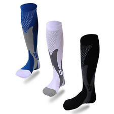 Mens Sports Knee Stockings High Compression Socks For Running Fitness Soccer