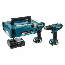 Makita CLX202AJ Drill Set 10.8V CXT Slide Twin Pack Combi Drill/ Impact Driver