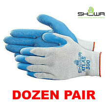 Showa Atlas Fit 300 Natural Rubber Coated Gloves Dozen 12 Pair Smmdlgxl