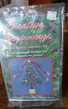 "Creative Beginnings Silk ribbon embroidery kit O Tannenbaum xmas tree 7x7"" NEW"
