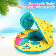 Adjustable Inflatable Kid Baby Toddler Sunshade Float Seat Boat Swimming Pool AU