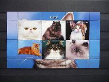 Katzen 16 cats Chats Tiere animals pets Fauna Block KB sheets postfrisch ** MNH