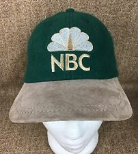 NBC Television Peacock Men's Ball Cap Green & Beige Hat Felt Suede Style Exc.