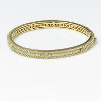 NYJEWEL Judith Ripka 18k Solid Gold Lovely 2.65ct Diamond Bangle Bracelet