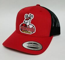 VENADOS DE MAZATLAN HAT RED BLACK MESH TRUCKER 2LOGOS SNAP BACK ADJUSTABLE NEW.