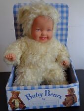 ANNE GEDDES Baby Bears 1997 Plush Doll VINTAGE In Box FREE SHIPPIPING 14""