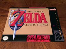 Legend of Zelda A Link to the Past SNES game cover art poster Super Nintendo