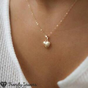 18K Gold Plated Women Girls Locket Necklace Pendant Silver Lockets Hold Picture