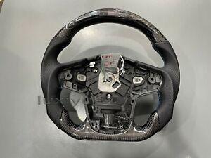New carbon fiber LED smart flat steering wheel for Toyota GR supra  A91 A90 20+