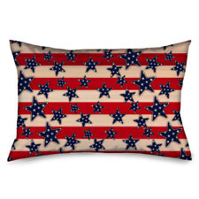 USA American Flag Red White Blue Stars and Stripes Pillow Case