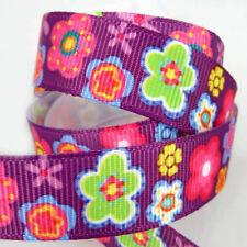"10yards 5/8"" Printed Sunflower Star Grosgrain Ribbon Craft Packing ribbon bow"