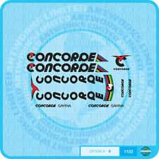 Concorde Gavina Bicycle Decals - Transfers - Stickers - Set 9 - Black Text