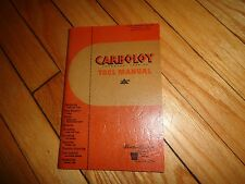 Carboloy Cemented Carbide Tool Manual 1949
