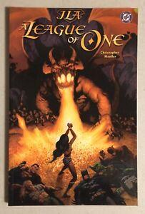 RARE! JLA A League Of One TPB DC Comics 2000 Christopher Moeller JUSTICE LEAGUE