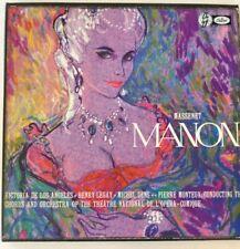 MASSNET: MANON ~ Monteux/DeLosAngeles <EMI Capitol GDR7171 4-LP ST US 50's>*NM*