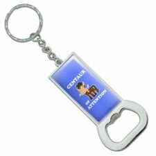 Centaur Center of Attention Funny Humor Rectangle Metal Bottle Opener Keychain
