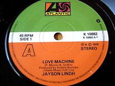 """JAYSON LINDH - LOVE MACHINE  7"""" VINYL"""