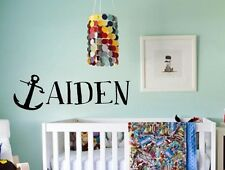 CUSTOM ANCHOR NAME Nautical Pirate Kid Wall Decor Decal Words Lettering Sticker